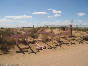 Gravestones line the streets of Juarez City, where kidnap and murder are a daily reality.